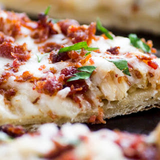 Chicken Bacon Ranch Flatbread Pizza