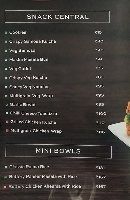 Cafe Coffee Day menu 2