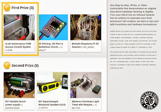 Photo: eLab Hackerspace GSM Access Control System gets First Prize on Hardware Hacking Contest on Instructables.com!