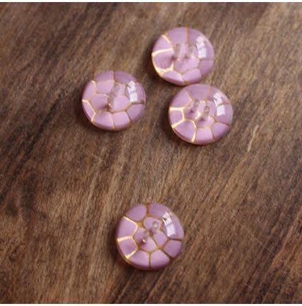 Krackelerad, 17mm - lilarosa