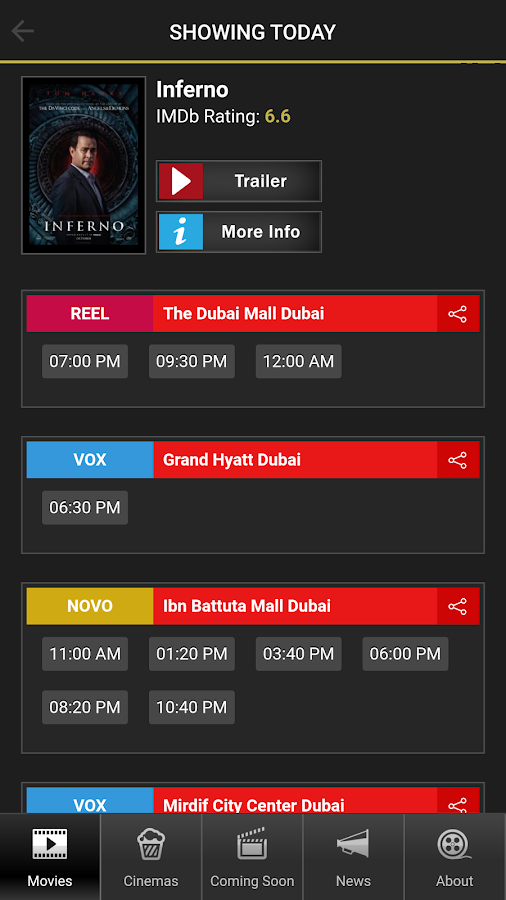 Cinema UAE- screenshot