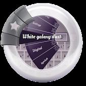 White galaxy dust GO Keyboard