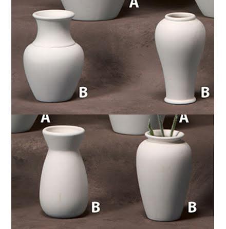 4 olika vaser - 12 st