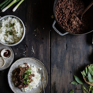 """Thanksgiving Leftover """"red Beans"""" & Coconut Rice."""