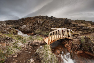 Photo: A crazy alien bridge in the wilds where no humans walk...