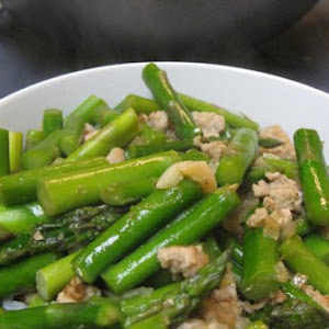 Asparagus With Ground Pork