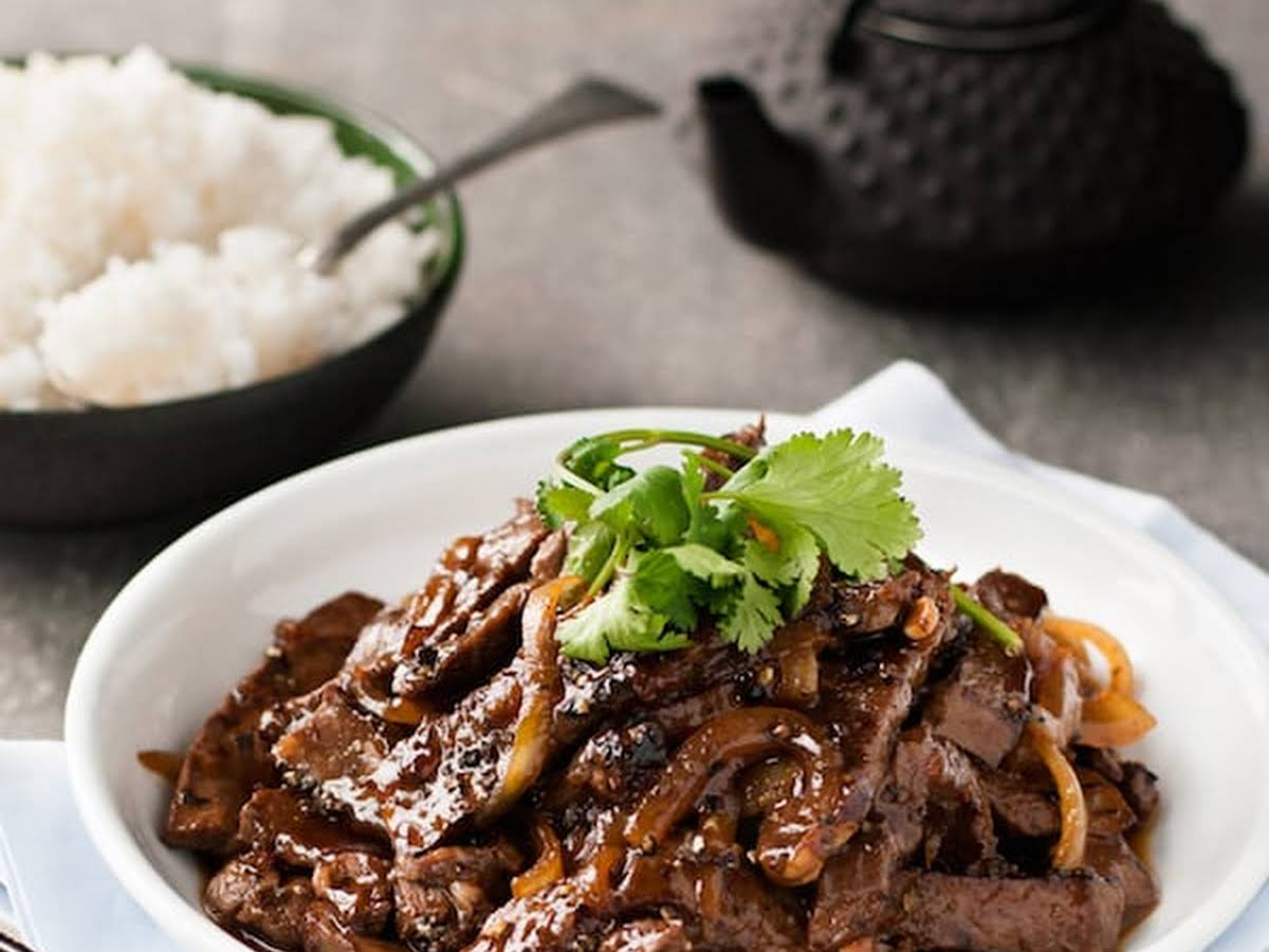 Fleur De Lotus Dijon chinese beef with honey black pepper sauce