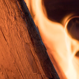 Fire log by Scott Thomas - Abstract Fire & Fireworks ( log, fire, hot, camp )