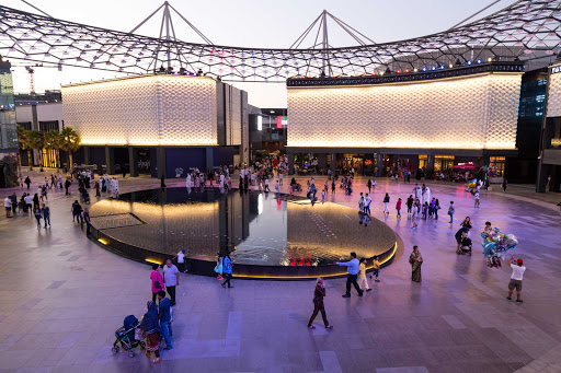 City Walk Dubai offers visitors a chance to shop, enjoy fine cuisine and take a warm evening stroll.