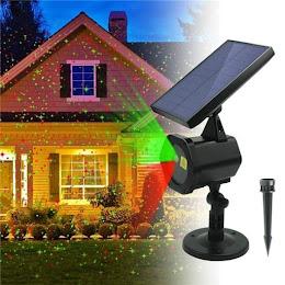 Proiector laser solar pentru Craciun, interior-exterior, rosu-verde