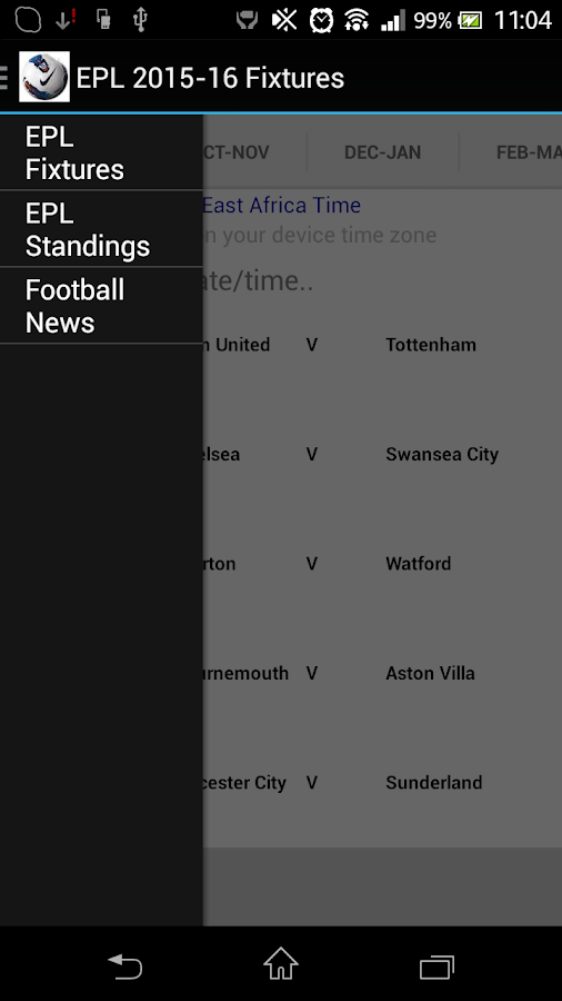 Epl 2015 16 Fixtures Android Apps On Google Play