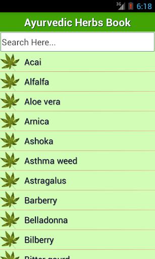 Ayurvedic Herbs✽ Medicine Book screenshot for Android