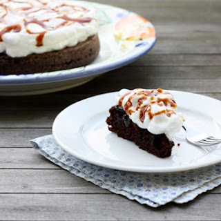 Mocha Cake with Fluffy Frosting