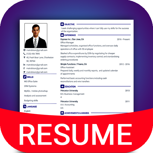Resume Builder App Free Cv Maker Cv Templates 2020 Apps On
