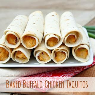 Baked Buffalo Chicken Taquitos