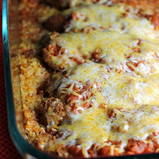 One Dish Baked Salsa Chicken Casserole