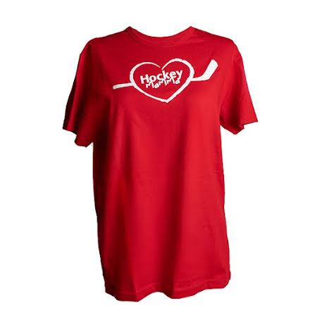 T-shirt - Hockeymamma - röd