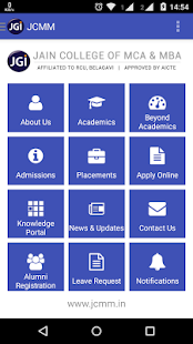 JCMM Jain College of MCA & MBA- screenshot thumbnail