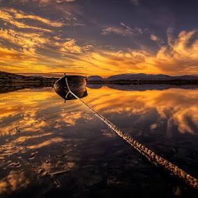 Båten8 by John Aavitsland - Landscapes Sunsets & Sunrises