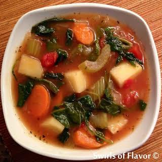 Hearty Potato Kale Soup.