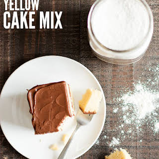 Homemade Yellow Cake Mix.