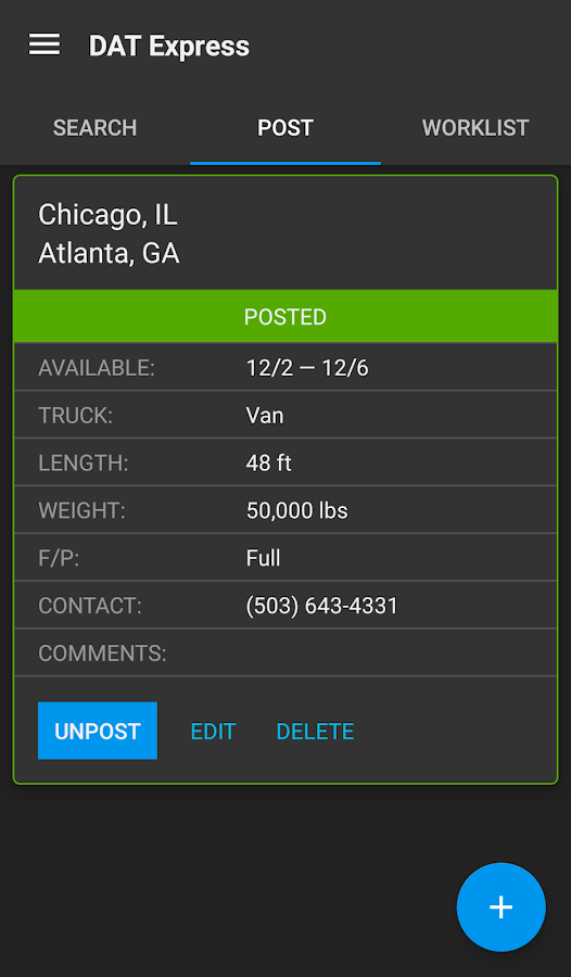 DAT Load Board for Truckers- screenshot