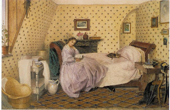Photo: A British governess's bedroom circa 1860.