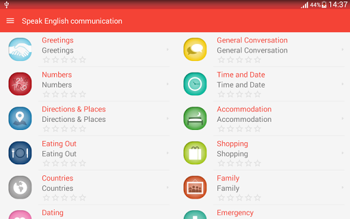 Speak English communication - screenshot