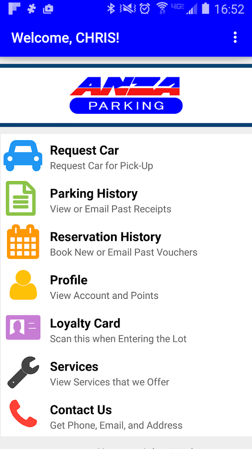 Anza Parking- screenshot