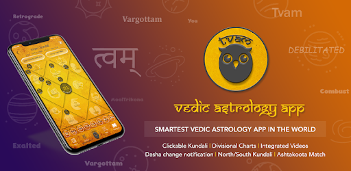 Interpret future with #1 Vedic Astrology Jyotish App.Indian / Hindu horoscope