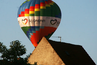 Photo: Varmluftballon over Sydbyen, Silkeborg