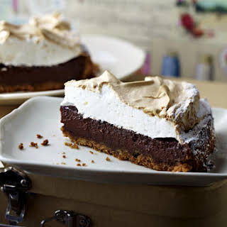 Chocolate Cheesecake with Meringue Topping.