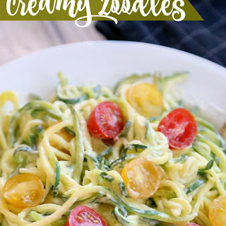 Creamy Garlic Parmesan Zoodles.