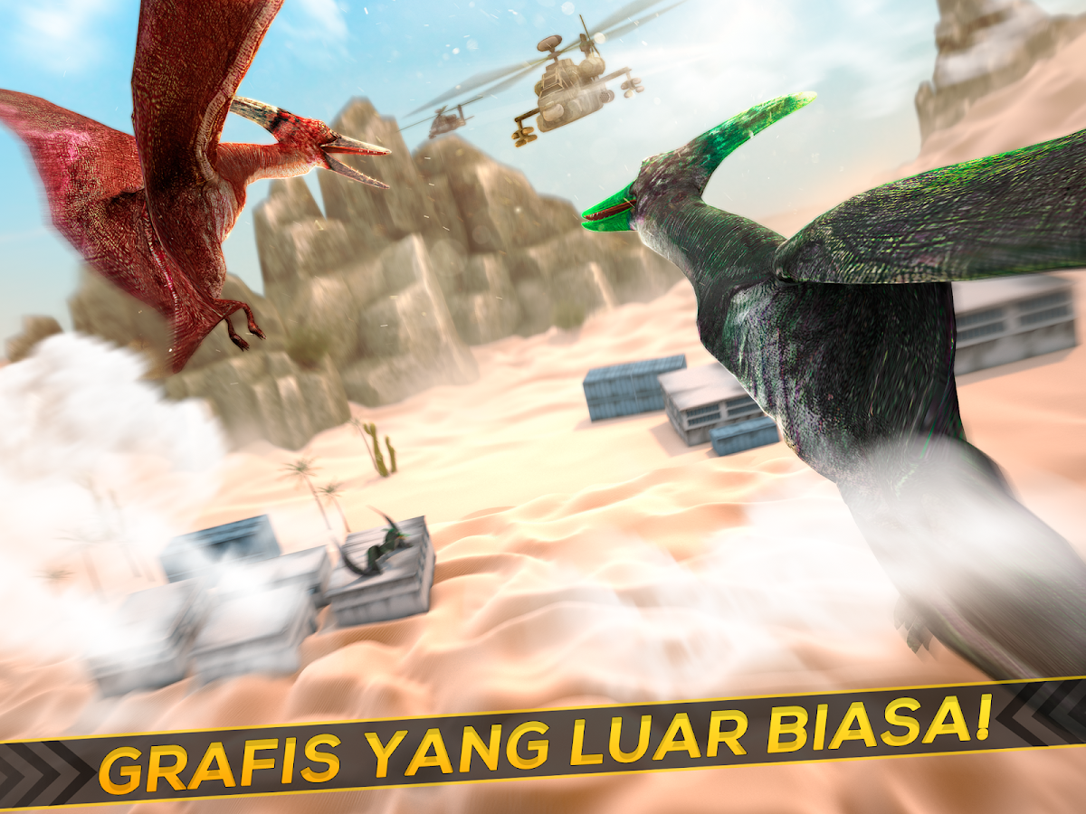 Helikopter Vs Dino Perang 3D Apl Android Di Google Play