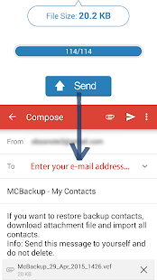 MCBackup - My Contacts Backup – Vignette de la capture d'écran
