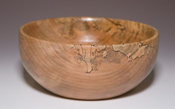 "Photo: Stan Sherman 4""x7"" bowl [spalted hickory]"