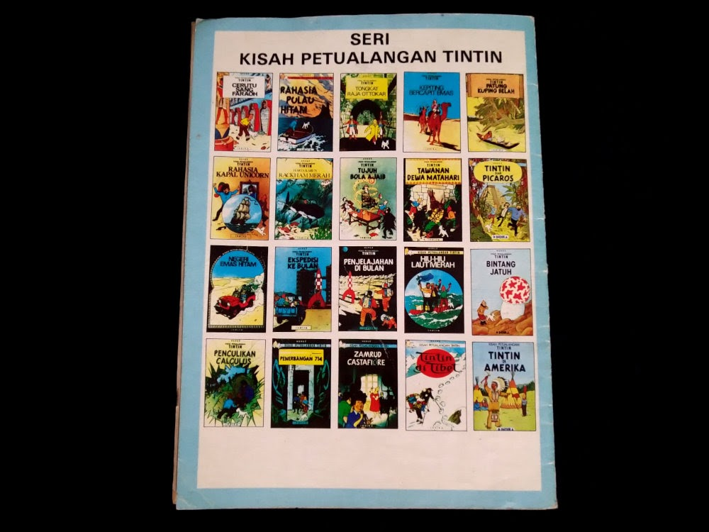 Judul-judul Komik Tintin