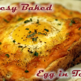 Cheesy Baked Egg in Toast
