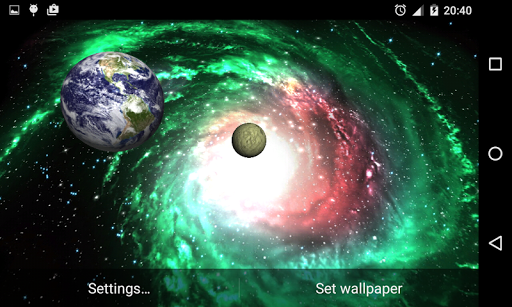 3D Galaxy Live Wallpaper 4K Full screenshot 8