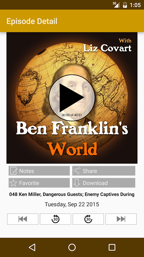 Ben Franklin's World- screenshot
