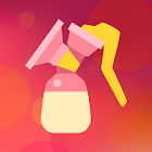 Breastfeeding Newborn tracker, pump and baby diary icon
