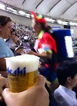 Photo: Asahi beer girl at the ball game.  Tokyo Dome, May 2012.