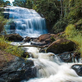 Cachoeira by Marcos Lamas - Landscapes Waterscapes