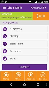 Clip 'n Climb Booking- screenshot thumbnail