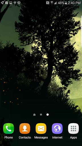 Fantasy Night Forest Live WP скачать на планшет Андроид
