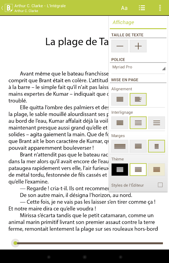 Bookeen Reader – Capture d'écran