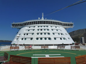 Photo: Helicaptor port at the front of the ship
