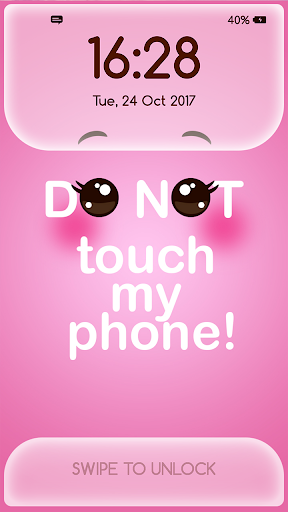 Girly Lock Screen Wallpaper with Quotes Apk 1