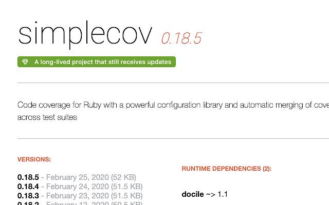 Ruby Toolbox data on Rubygems.org