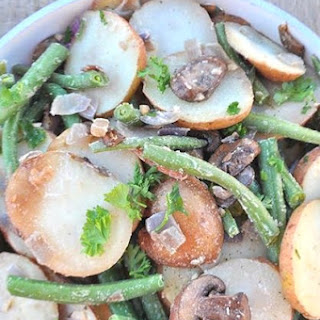 Roasted Potatoes and Mushrooms with Green Beans